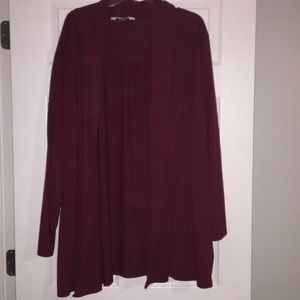 Old Navy red cardigan